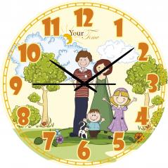 05-402/05 Wall clock Family Children's cartoons round 25 cm