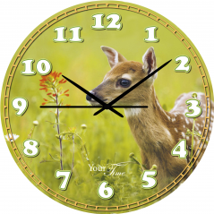 05-407/21 Часы настенные Детские Оленёнок серия Животные МДФ 30 см