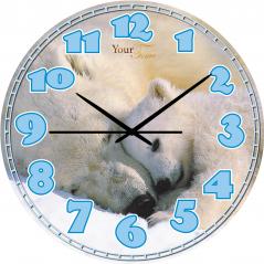 05-407/22 Часы настенные Детские Белый медведь серия Животные МДФ 30 см