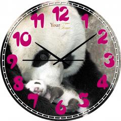 05-407/23 Часы настенные Детские Панда серия Животные МДФ 30 см