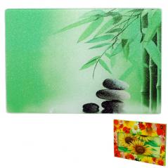 9552 Доска разделочная стеклянная 30х40х0.5 см (6) <a href='http://snt.od.ua/ru/poisk.html?q=Зеленый бамбук' />Зеленый бамбук</a>