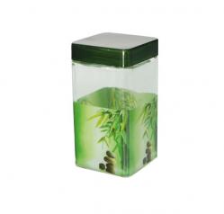 611 Емкость для сыпучих продуктов,квадр. 1.1л Зеленый бамбук