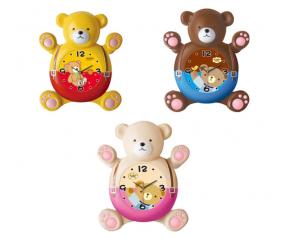 05-020 Часы настенные Детские с маятником Мишка кварц.пластик 31*10*34.5 см