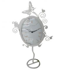 02-221 Часы настольные Эдем метал. круглые (33*5*57,5см)