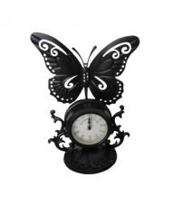 02-223 Table Clock Valencia metal.(24*14*31см)