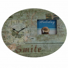01 11AC025 wall clock with frame