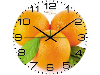 01-085 Часы настен.серия Кухня Апельсиновый рай стекло/кругл.28см