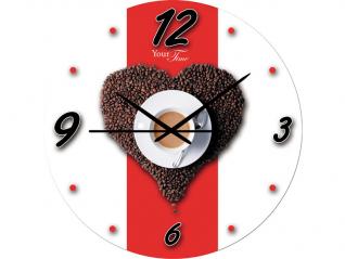 01-126 Часы настен. серия Кухня Утренний кофе стекло/кругл. 28см