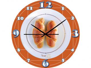 01-139 Часы настен.серия Кухня Круассан стекло/кругл. 28 см