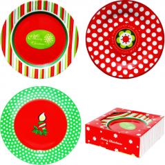 30883 Набор 6 десертных тарелок 7,5/19 см  Новый год ,тарелка d-19см