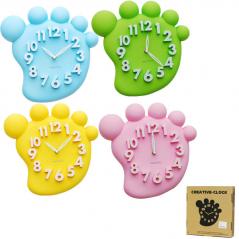 05-024 Wall Clock Baby Feet kvarts.plastik 31 * 4.5 * 31 cm