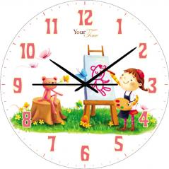 05-401/2 Часы настенные Художница Детская серия  МДФ круг 25см