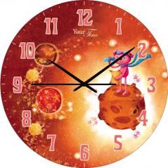 05-401/3 Wall Clock Martian Child Care MDF circle 25cm