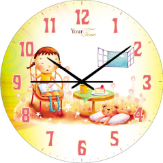 05-401/5 Часы настенные Друг Детская серия  МДФ круг 25 см