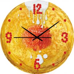 01-038 Series Wall Clock Kitchen Pancake MDF circle 28 cm