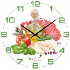 01-054 Часы настенные серия Кухня Овощная нарезка МДФ круг 28 см