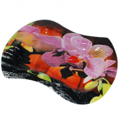 3815 Тарелка' Волна 2' 28*21 см (Орхидея)