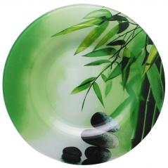 309 Блюдо 25см Зелёный бамбук
