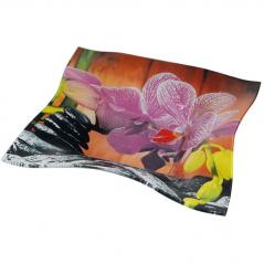 377 Салатник квадр. Элегант 8'-21 см  (Орхидея)