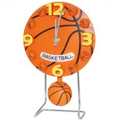 05-014 Часы настольные Детские с маятником Баскетбольный мяч кварц.пластик 17*4,5*26 см