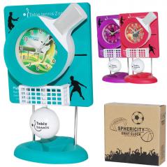 05-114 Table clock with a pendulum Kids Tennis quartz. plastic