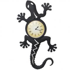 02-213 Chameleon Clock wall metal. (54*5*28,5 см)