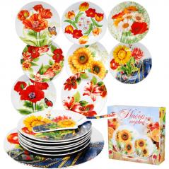 30838 Набор для торта 8 предм. <a href='http://snt.od.ua/ru/poisk.html?q=Цветы' />Цветы</a>