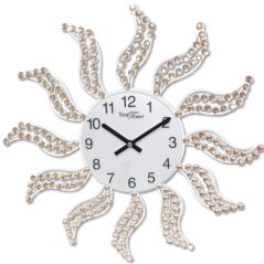 02-234 Wall clock with metal stones 40x40 cm