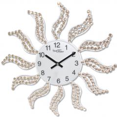 02-234 Часы настенные с камнями металл 40х40 см
