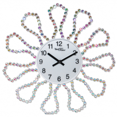 02-233 Wall clock with metal stones 40x40 cm