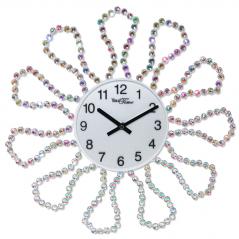 02-233 Часы настенные с камнями металл 40х40 см
