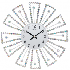 02-227 Wall clock with metal stones 40x40 cm