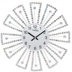 02-227 Часы настенные с камнями  металл 40х40 см