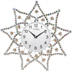 02-228 Wall clock with metal stones 40x40 cm