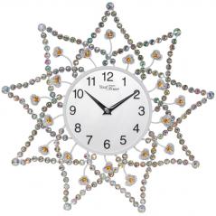 02-228 Часы настенные с камнями  металл 40х40 см