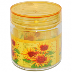 614 Container for loose products 0,9 liter 096  sunflowers