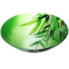 388 Салатник (18*18*4.5см) (Зеленый бамбук)