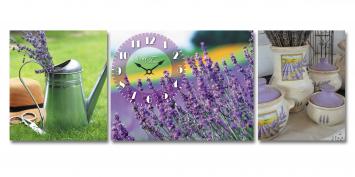 06-311 Wall Clock on canvas Lavender mood 30 * 30cm