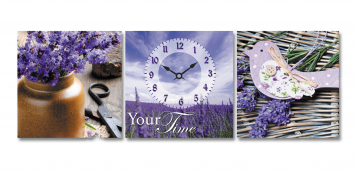 06-315 Wall Clock on canvas 30 * 30cm Provence