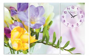 06-405 Часы настенные на холсте Весна 68*45см