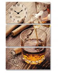 06-511 часы настенные на холсте Виски 44,5*64см