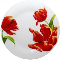 3030-21 Тарелка 8 'Красный тюльпан