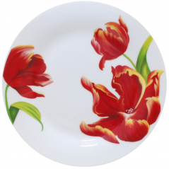 3081-21 Тарелка 9 'Красный тюльпан