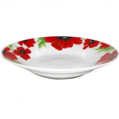 3082 Тарелка суп 8 'Красный мак (36)