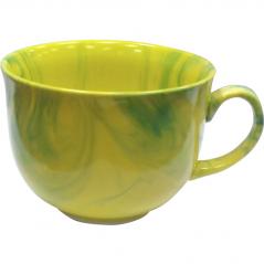 50209 Чашка Апетитка <a href='http://snt.od.ua/ru/poisk.html?q=радуга' />радуга</a> желто-зелёная 500 мл