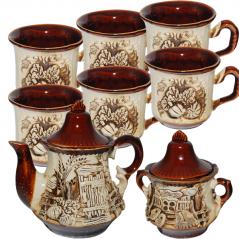 50102 Набор чайный 8 предметов (Чайник1.25л, сахарница540мл,6чашек300мл) Пекин