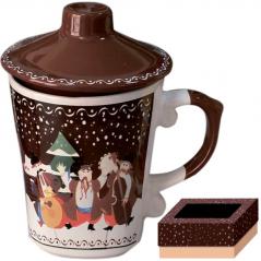 2142 Чашка заварочная 350мл Наши традиции/Рождественская ночь