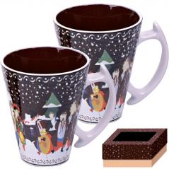 7155 Набор чашек 2шт 350 мл  Наши традиции/Рождественская ночь