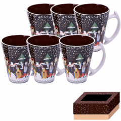 7239 Set of 6 pcs cups 350 ml Our traditions / Christmas Night
