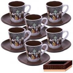 1533-03 Сервиз кофейный 12 пр. 90 мл  Наши традиции/Рождественская ночь